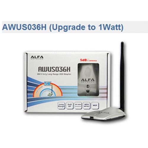 AF-AWUS036H Alfa Wireless-G 802 11g high power (1000mW) WIFI USB Adapter