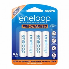 SY-EneloopAA4 Sanyo Eneloop AA Rechargeable Ni-MH Batteries (2000mAh, Blister Pack of 4)